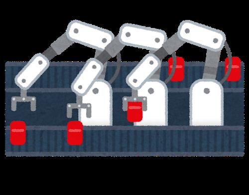 工場のロボット